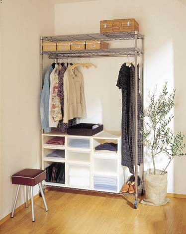 Make A Free Standing Closet Using Wire Shelving And Closet System  Containers. Childrenu0027s Room・・・ Expandable Storange That Can Grow With Your  Child